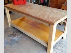 How to build a sturdy workbench inexpensively 2