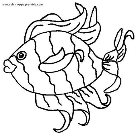 Tropical Fish Coloring Pages by Tropical Fish Color Page