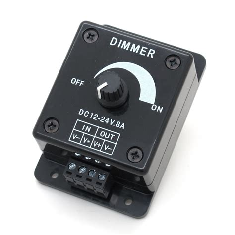 dimmer switch for led ls aliexpress buy 12v 24v dc 8a balck single color led dimmer switch brightness controller