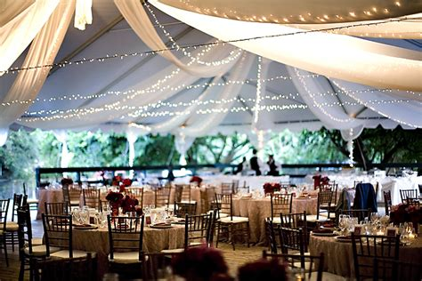 wedding reception venue decorations on
