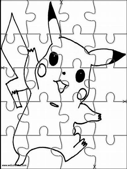Pokemon Puzzles Jigsaw Printable Cut Activities Puzzle