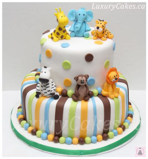 Animal Themed Baby Shower Cake  Cake By Sobi Thiru