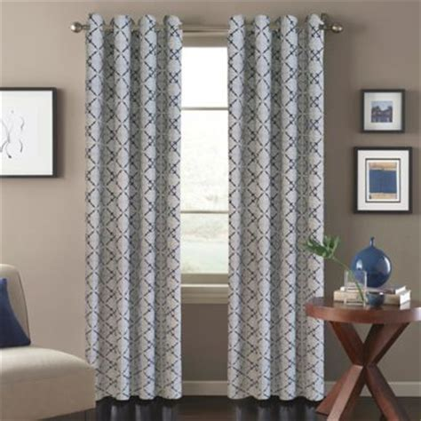 Blue Moroccan Tile Curtain Panels by Buy Blue Window Curtains From Bed Bath Beyond