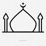 Mosque Coloring Clipart Colouring Pinclipart Aqsa Printable Webstockreview sketch template