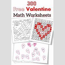 300 Free Valentine Math Worksheets For Kids