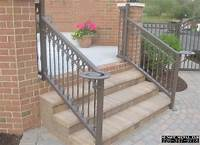 lovely patio stair design ideas Metal Exterior Handrails For Stairs | Modern Style Home ...