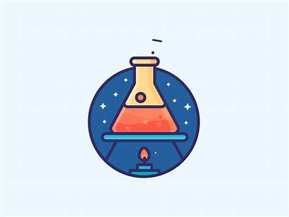 Chemistry Dribbble Drawing Flask Science Animation Icon