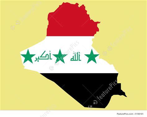 illustration  map  iraq  iraqi flag