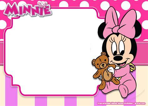 printable minnie mouse pink invitation templates