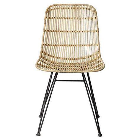 chaise en rotin pas cher bloomingville chaise en rotin et métal noir