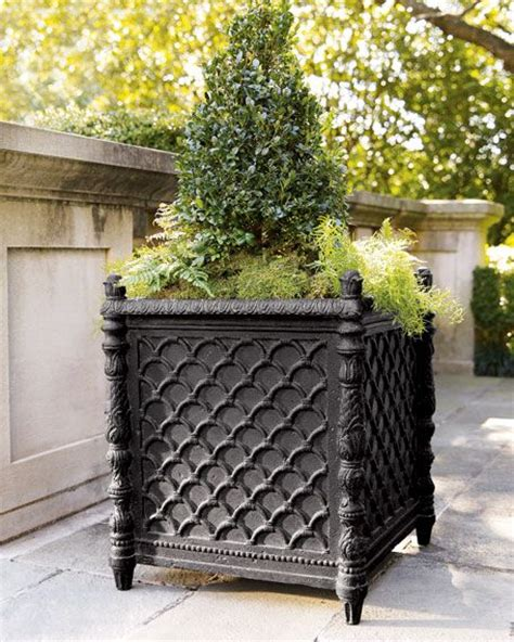 Square Outdoor Planters by Best 25 Black Planters Ideas On