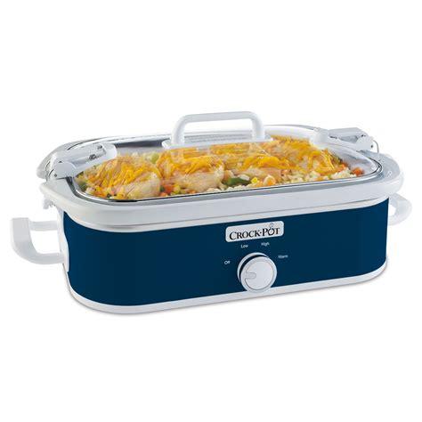 crock pot for one crock pot 174 casserole crock cooker in midnight blue