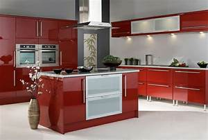 Küche Rot Hochglanz : k chendesign trendige ideen und inspirierende beispiele ~ Yasmunasinghe.com Haus und Dekorationen