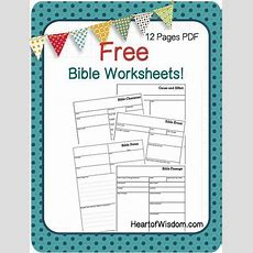 Free Bible Worksheets From Heartofwisdomcom Great For Documenting Daily Studies Bible Event