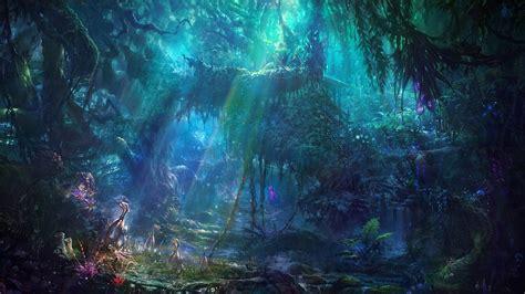 Anime Night Scenery Wallpaper Concept Art Fantasy Art Artwork Science Fiction Exotic Jungle Wallpapers