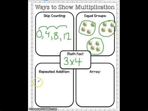 4 Ways To Show Multiplication  Youtube