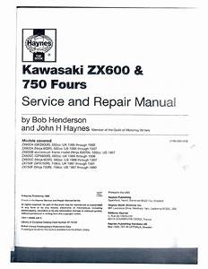 Kawasaki Zx 600 750 Repair Manual Pdf Download