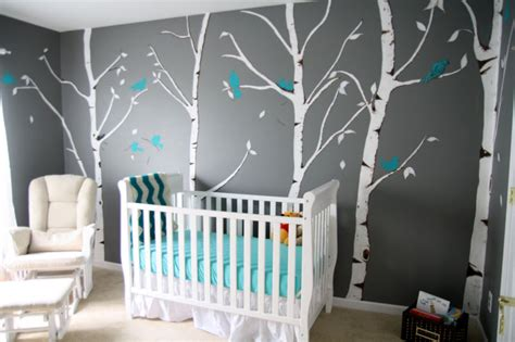 chambre bebe gris bleu décoration chambre d enfant grise