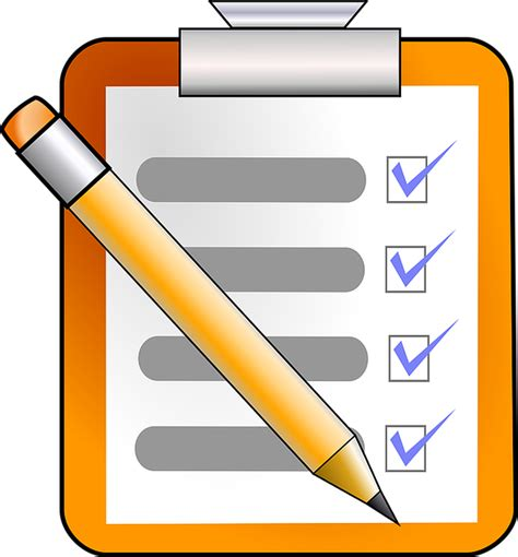 Checklist Clipart Kostenlose Vektorgrafik Checkliste Aufgabe Zu Tun
