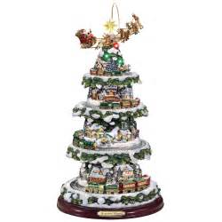 the thomas kinkade animated christmas tree hammacher schlemmer