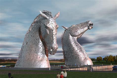 Massive Horsehead Sculptures For Scotland Horsetalkconz