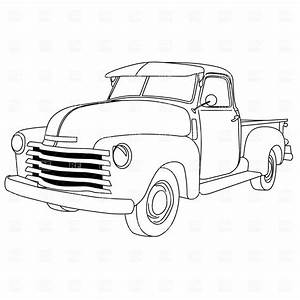 old american pick up truck vector image 1047 rfclipart With 1970 chevy step van