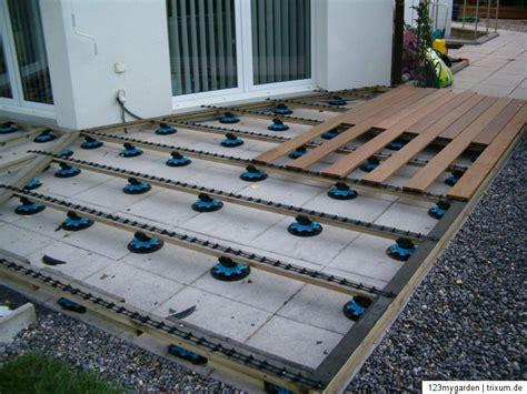 aufbau wpc terrasse stellfu 223 f 252 r holz terrasse wpc dielen diele unterbau fundament stellf 252 223 e ebay