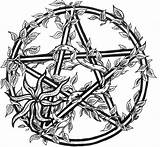 Coloring Pages Wiccan Pentagram Pentacle Tattoo 3d Biomechanical Adult Pagan Symbol Celtic sketch template