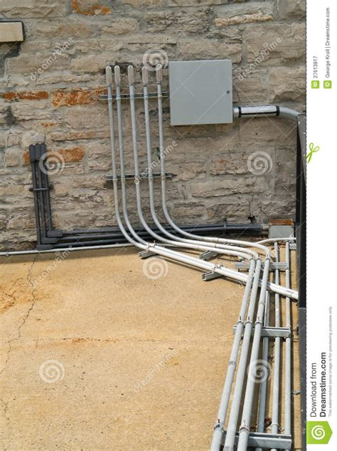 Electrical Conduit Panel Stock Image