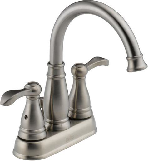 Bathroom Sink Faucets Menards by Delta 174 Porter 174 4 In 2 Handle High Arc Bathroom Faucet At