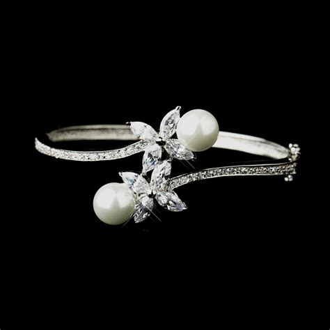 Pearl & Marquise Cz Bridal Bangle Bracelet  Elegant. Vintage Cartier Brooch. Purchase Beads Online. Quartz Stud Earrings. Love Bands. Heat Treated Emerald. Jeulia Engagement Rings. Bangle Anklet. Sterling Silver Charm Bangle