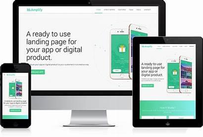 App Landing Amplify Theme Responsive Propeller Wordpress