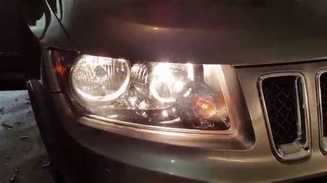 jeep compass testing headlights  changing