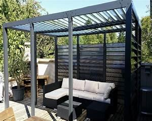 Prix Tonnelle Pas Cher : pergola toit et ventelles fixes pas cher pergola ~ Premium-room.com Idées de Décoration