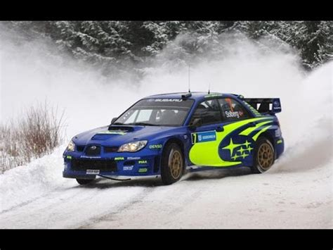 rally subaru subaru impreza wrx sti rally action exhaust sound on