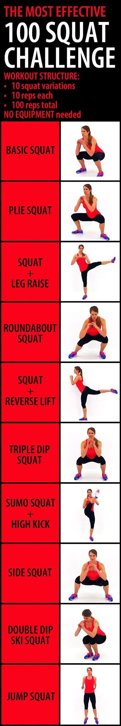 The Most Effective 100 Squat Challenge This Challenge