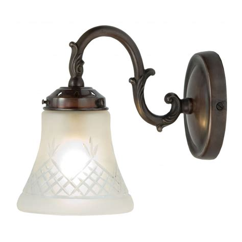 victorian singlw wall light on antique fitting with cut
