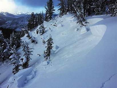Avalanche Warning Under Country Avalanches Slab Ridge
