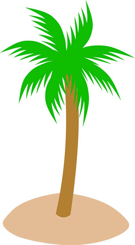 Clipart Palm Tree Tropical Palm Tree In Sand Free Clip