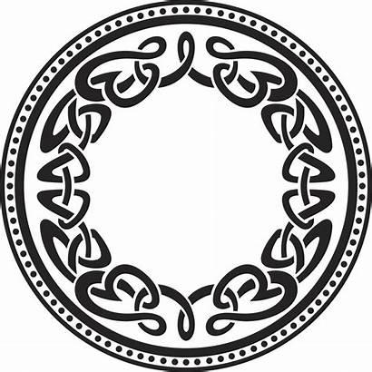 Celtic Round Pattern Border Keltische Knot Muster