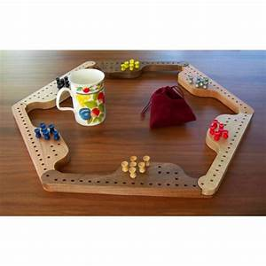 Handmade 6 Player Pegs and Jokers Board Game (Jokers and Pegs)