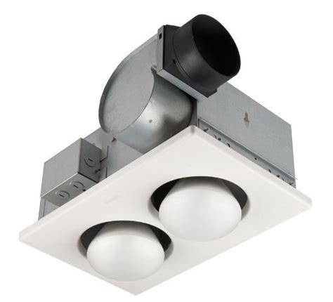 bathroom exhaust fan duct size broan 164 type ic infrared two bulb ceiling heater with 4