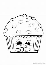 Muffin Coloring Drawing Pages Shopkins Mary Cupcake Printable Step Adults Draw Getdrawings Paintingvalley sketch template