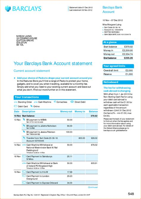 Blank Bank Statement Template by Blank Bank Statement Template Portablegasgrillweber