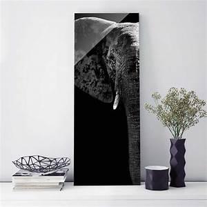 Glasbild Schwarz Weiß : glasbild afrikanischer elefant schwarz weiss panorama hoch ~ A.2002-acura-tl-radio.info Haus und Dekorationen