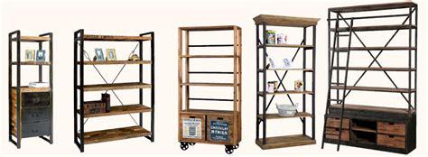 librerie stile industriale prezzi on line legno ferro