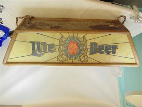 miller lite pool table light miller lite beer pool table light 47 quot untested local