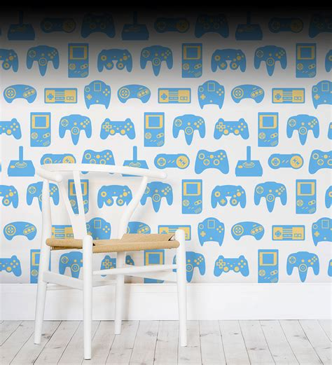 awesome decor   game room wallpaper  murals