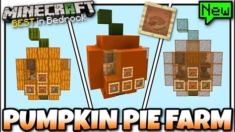 And speaking of simple, this easy pumpkin pie recipe offers a foolproof way to handle the dough for the crust. Minecraft - PUMPKIN PIE FARM 🥧  Redstone Tutorial  MCPE ...