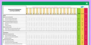 queensland kindergarten learning guideline assessment 865 | au pa 43 queensland kindergarten learning guideline assessment spreadsheet ver 2